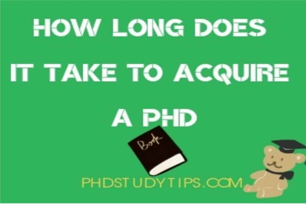 how many years of phd